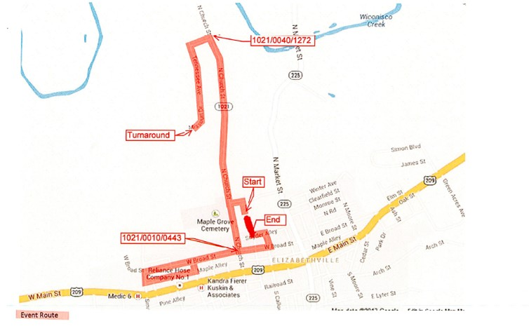 trick or trot 5k route