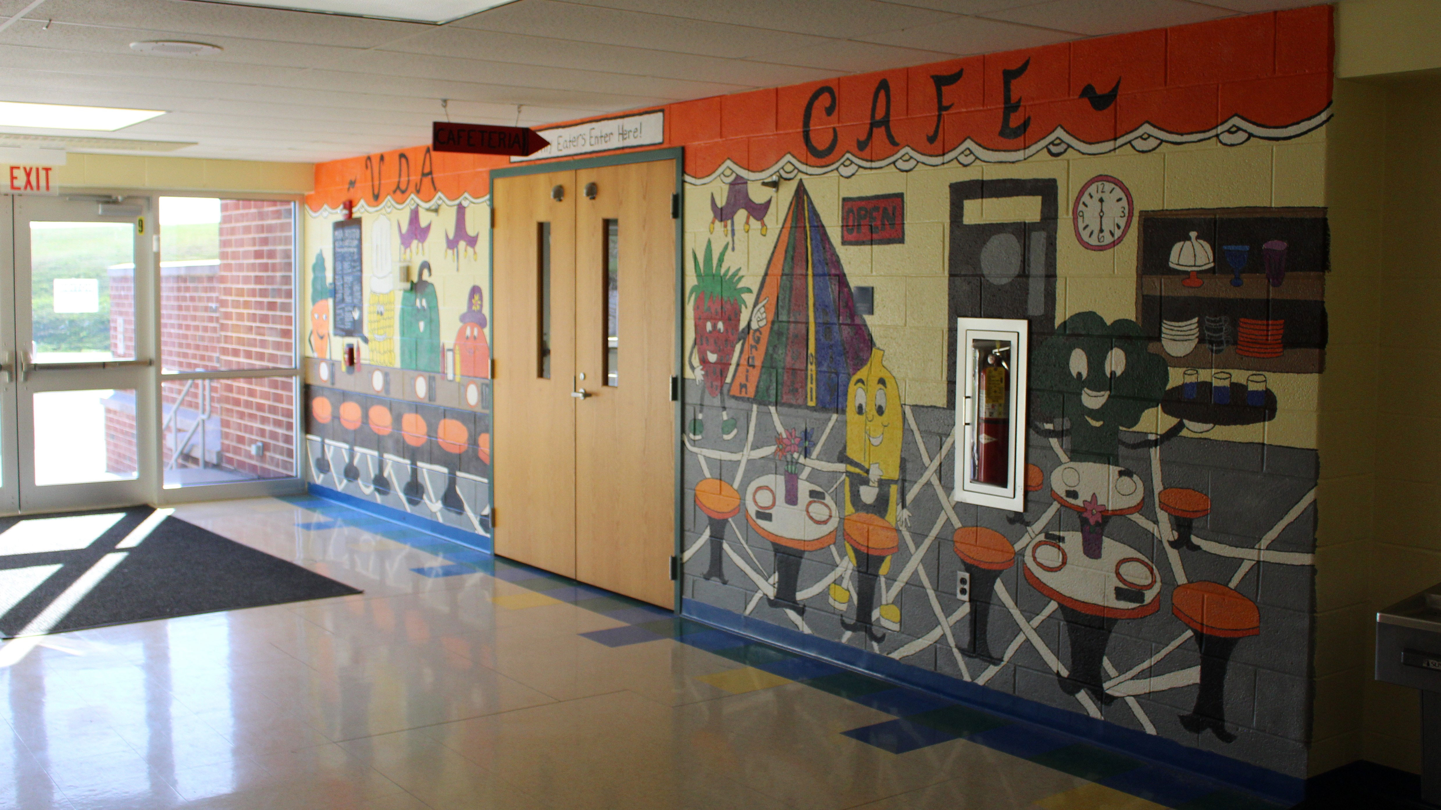 upper dauphin area elementary cafeteria mural