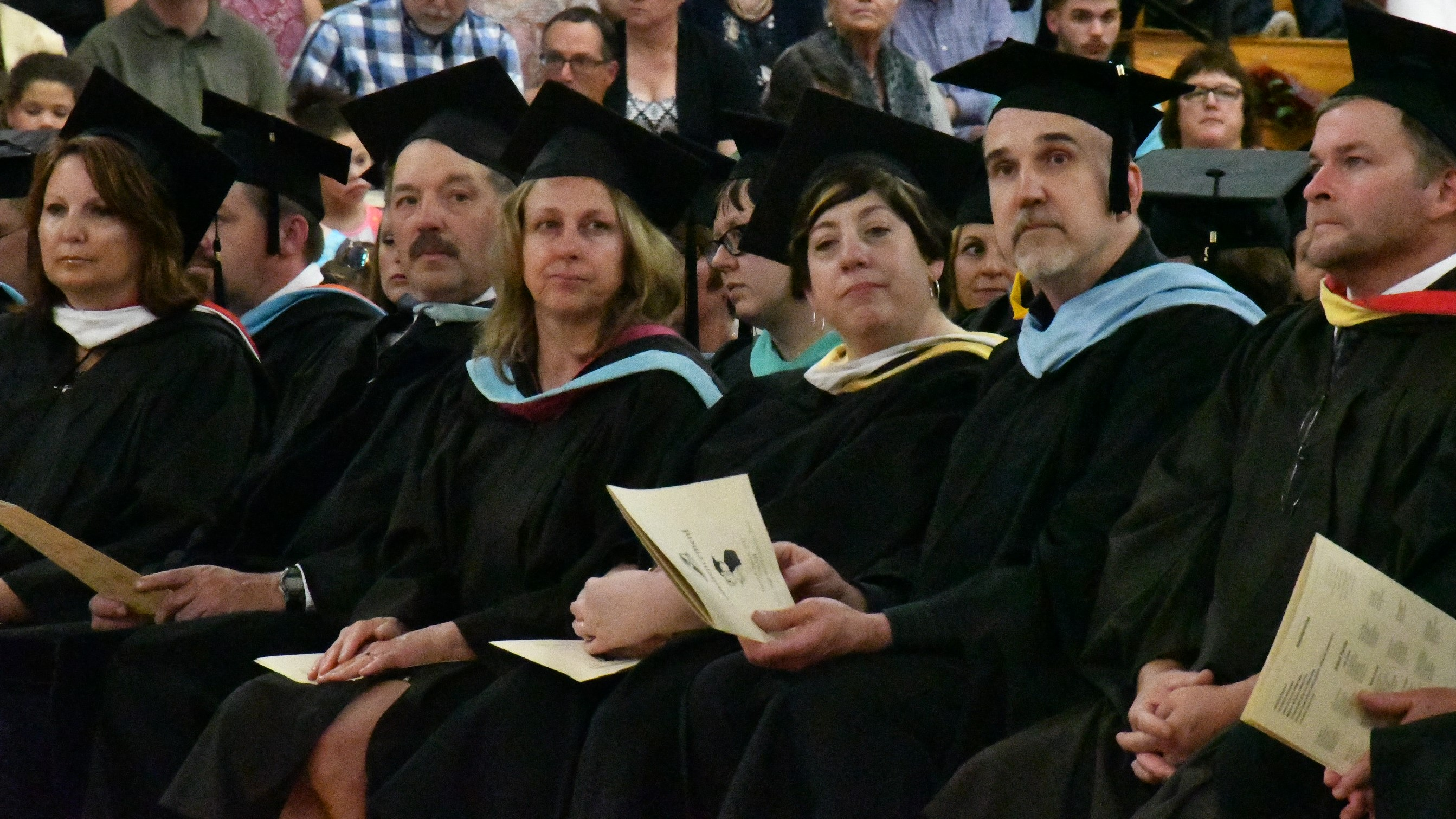 upper dauphin area faculty at graduation