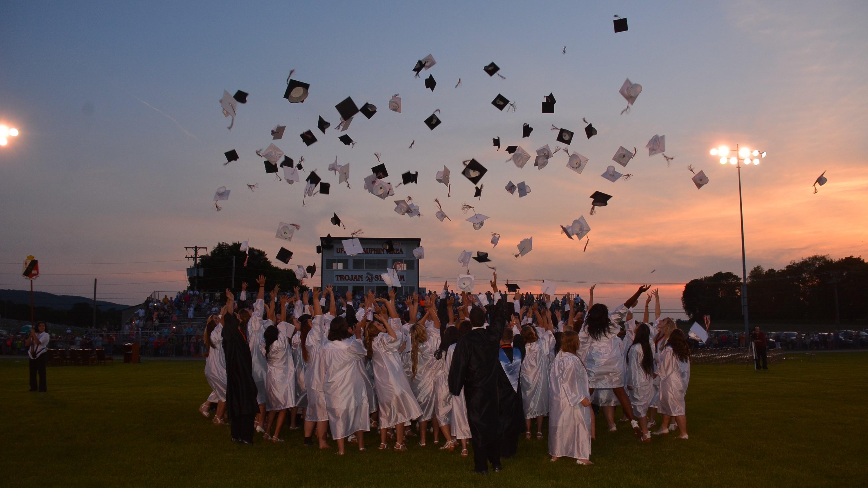 upper dauphin area graduation cap toss