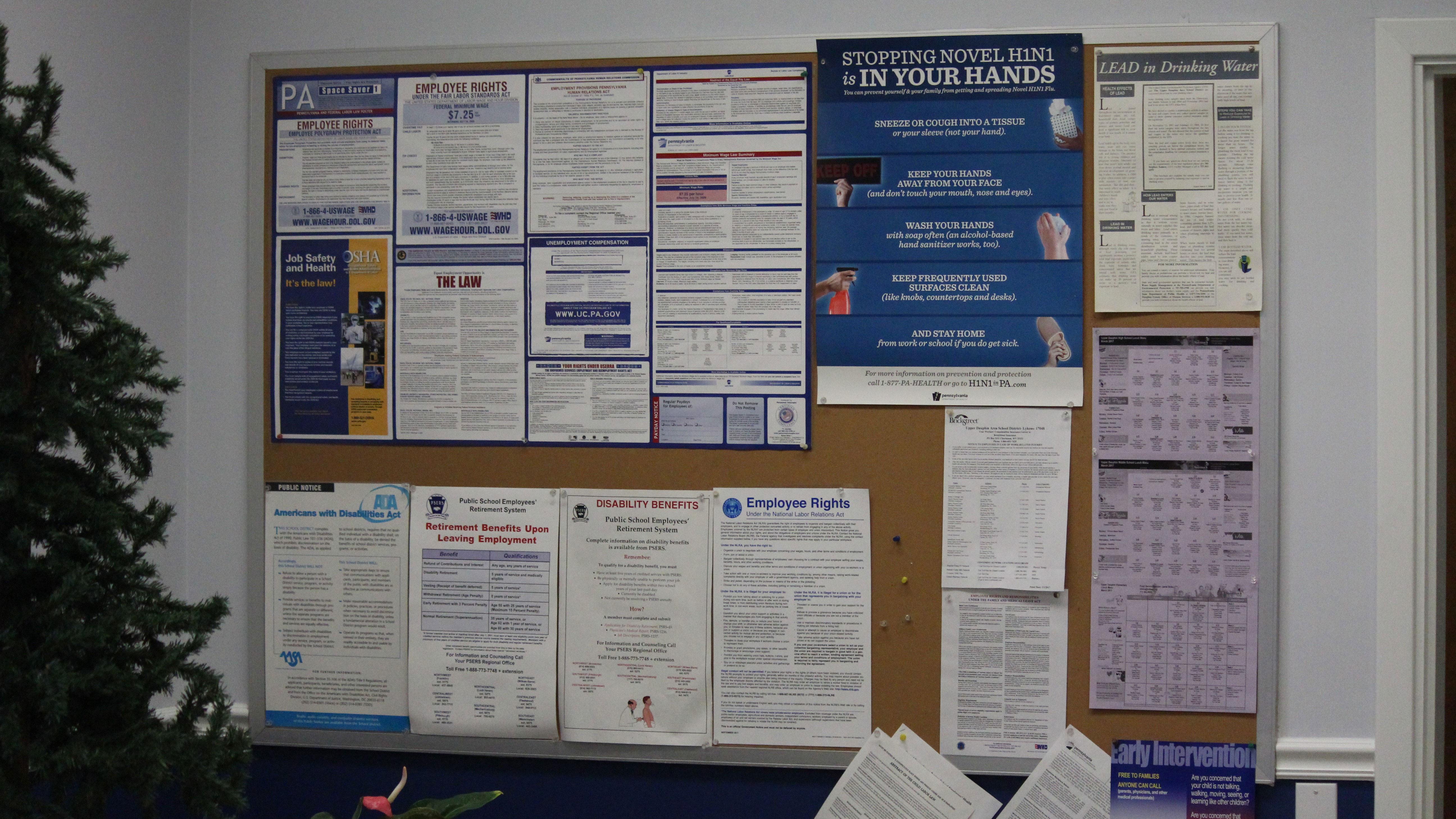 upper dauphin area district office bulletin board