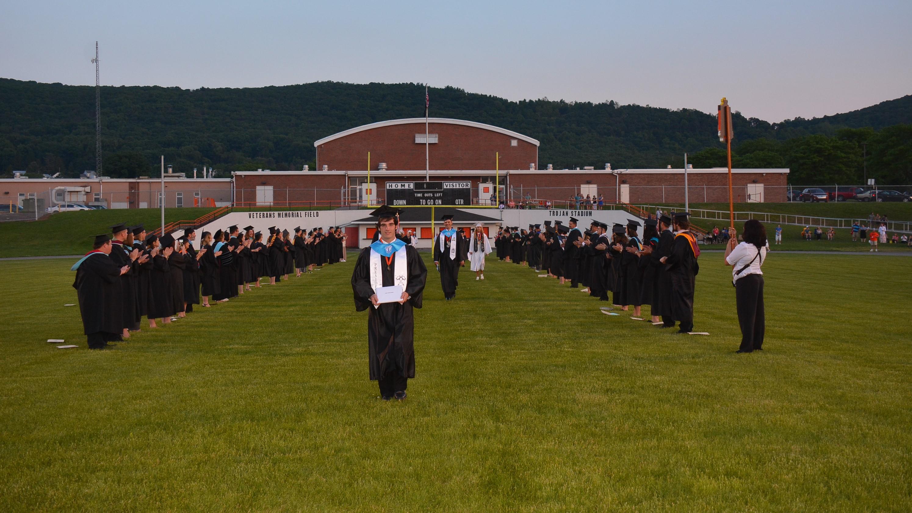 upper dauphin area graduation walk